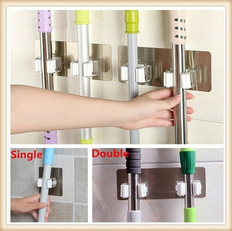 Strong Wall Hook Multi-Purpose Hooks Key Holder hanger Kitchen Bathroom Hooks Crochet Suction Cup Nail-free Mop Clip Card Holder 2