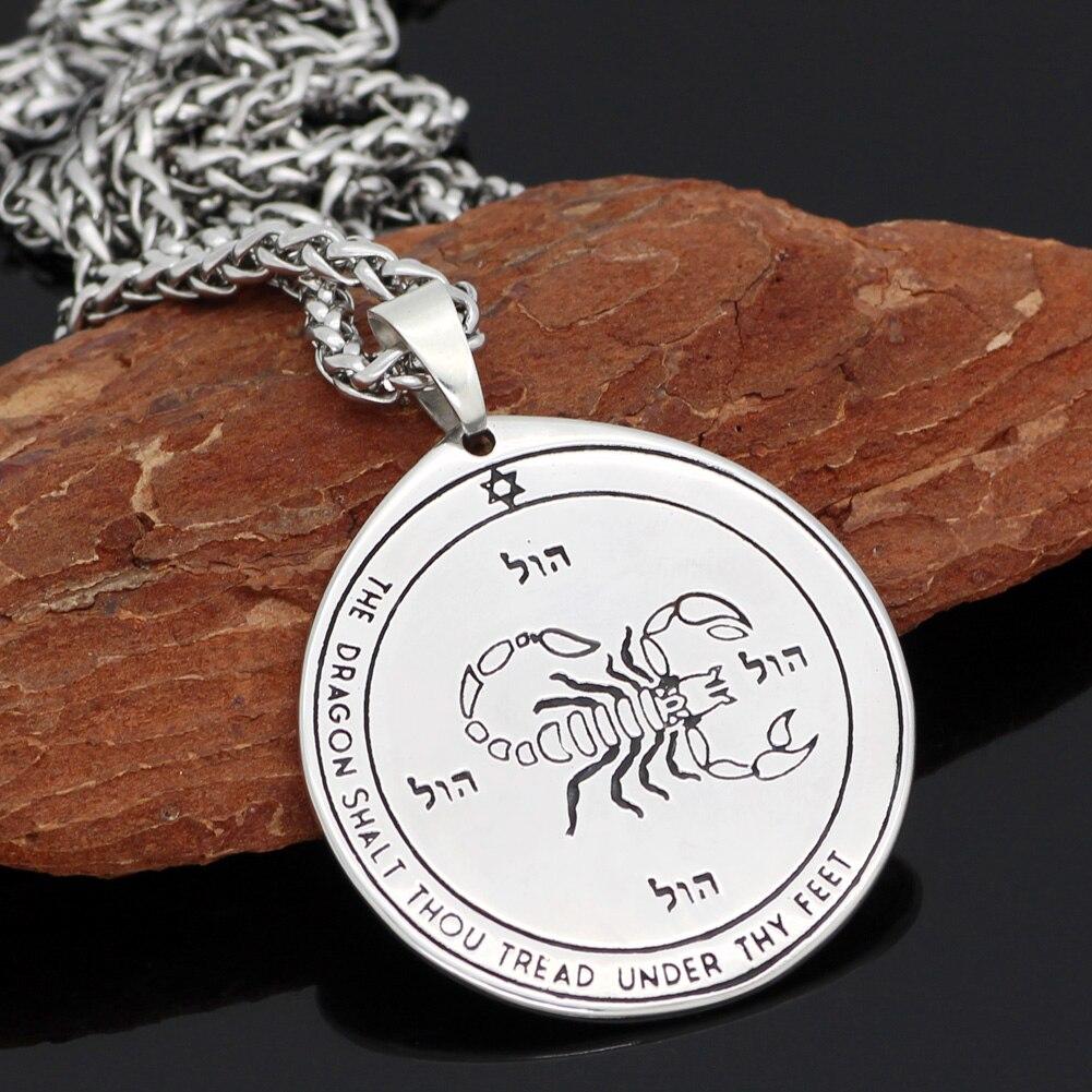Talisman Pentacle of Solomon Seal Wiccan Pagan Hermetic Enochian Kabbalah Pendant necklace Stainless steel
