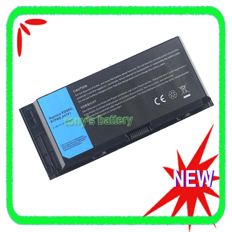 6 Cell Battery For Dell Precision M4600 M4700 M6600 M6700 FV993 PG6RC R7PND X57F1 T3NT1 0TN1K5 312-1178