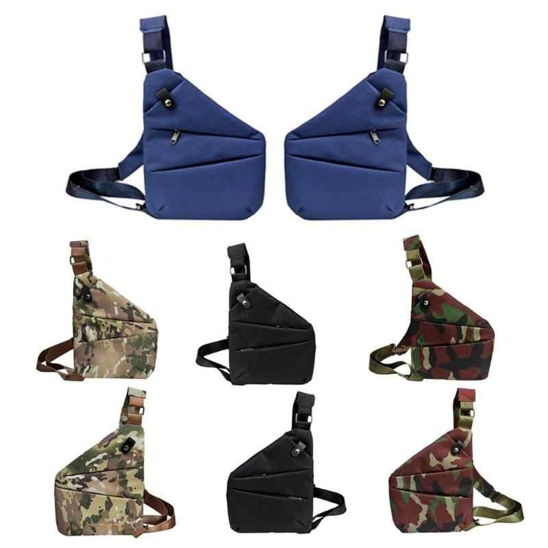 Anti-roubo multifuncional saco de armazenamento digital men cintura crossbody sacos de peito náilon crossbody sacos