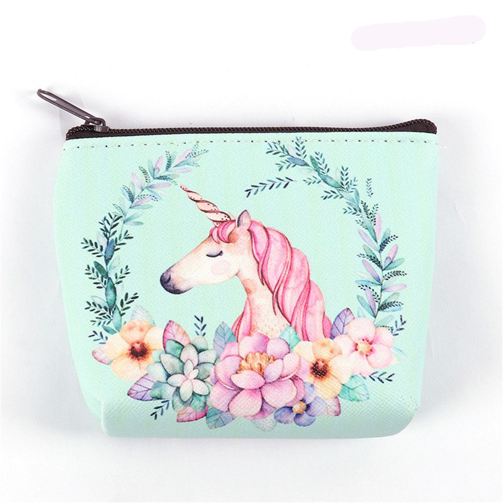 Bags for Women Unicorn Coin Purses Holder Kawaii Animal Unicorn Flamingo Mini Change Wallet Small Bag Kids Zipper Pouch Gift(China)
