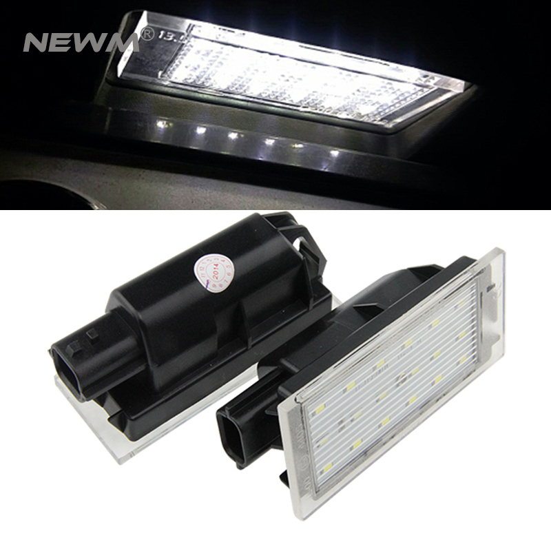 2x Xenon White Error Free LED Car Light Lamp Number Plate Light For Laguna II 5D,Laguna III 5D,Velsatis,Master II license light 2x led car styling canbus no error code license plate lamp for smart fortwo rear number plate light auto accessory