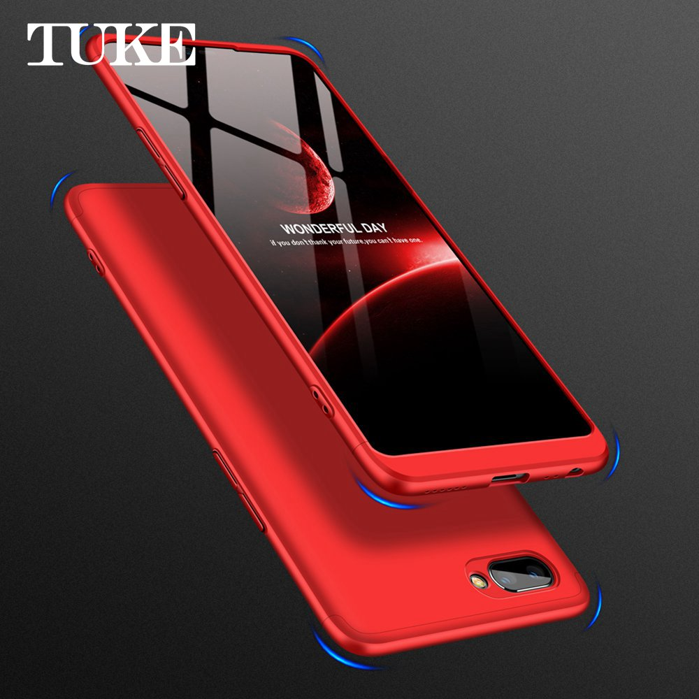 outlet store 14a98 6eb9d 360 Full Protection Case For OPPO A3s A5 Cover Case Luxury Hard PC 3 In 1  Back Cover For OPPO A3S A5 Armor Coque Capa