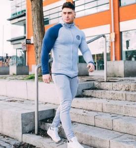 Image 5 - 2019 gimnasios nuevo chándal pantalones de hombre conjuntos de sudadera de moda trajes de sudor marca heren Kling casual fitness prendas de vestir jogger set