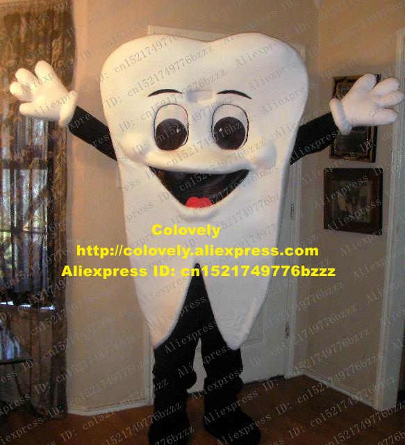Hidup Putih Gigi Gigi Dewasa Maskot Kostum Mascotte dengan Mulut Besar Merah Lidah Pakaian Pesta Baju Kostum No 283 kapal Gratis