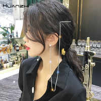 HZ 2019 New Fashion Imitation Pearls Hair Grip Asymmetric Tassel Elegant Hair Clips Barrettes Hair Accessories for Women Party