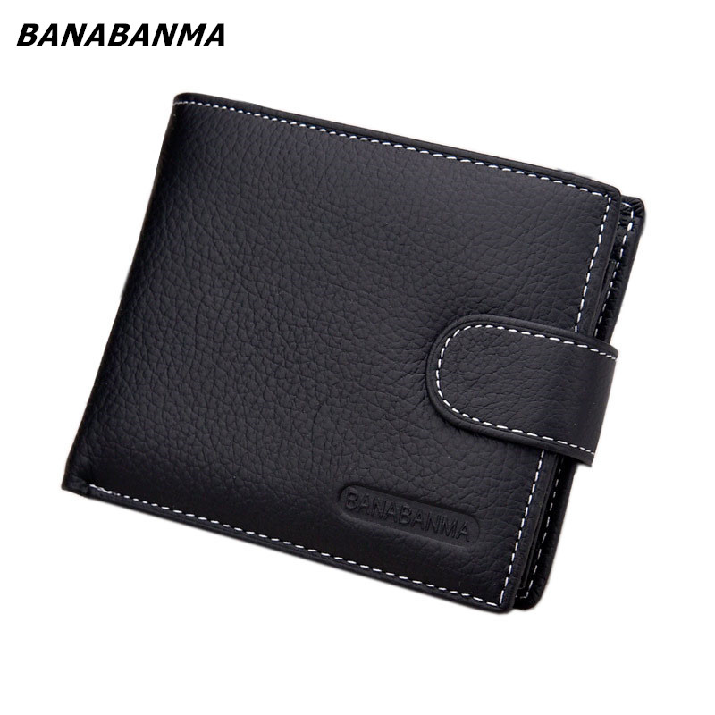2018 new brand Wallet men genuine leather men wallets purse short male leather wallet men money bag quality guarantee carteira