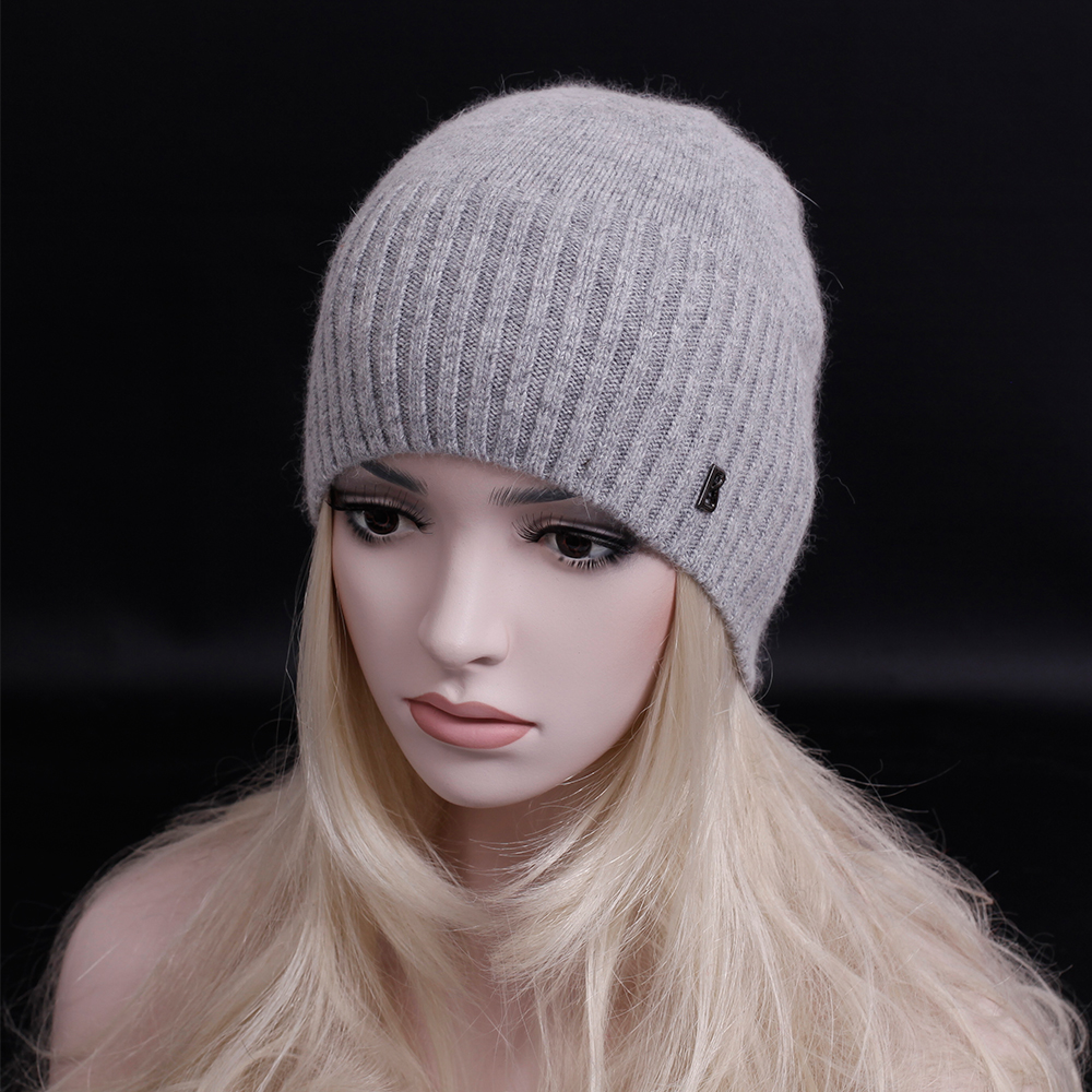 2016 newest fashion elegant cashmere hat letters beanies gorros woman winter hat knitted hat Solid color