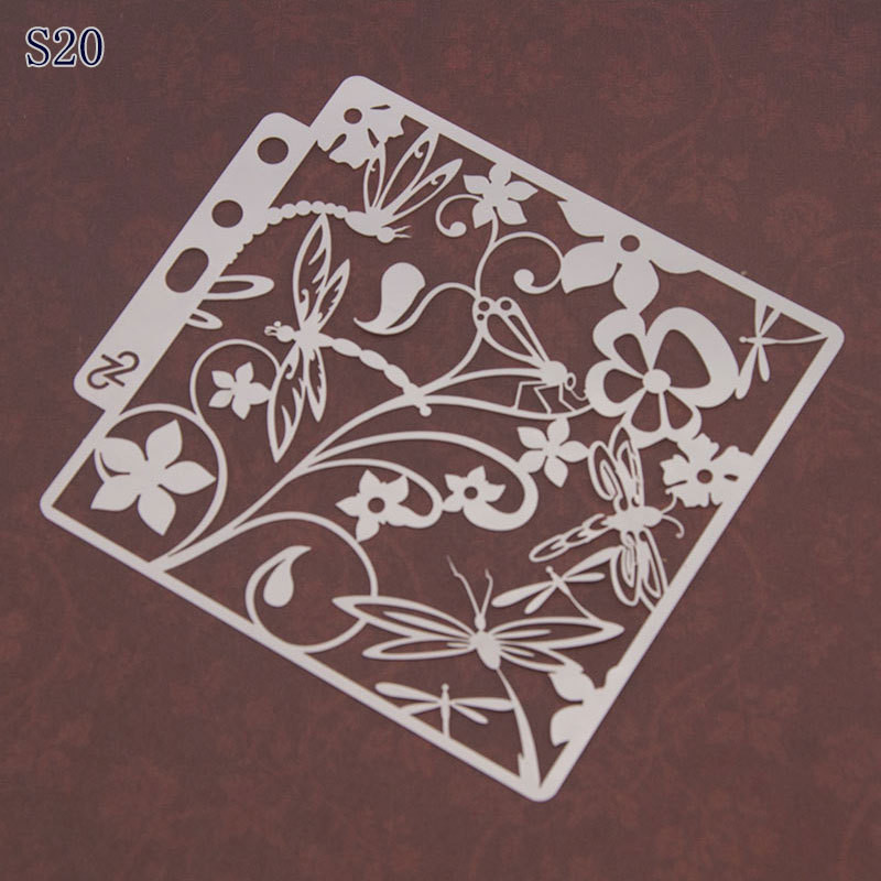 New DIY Craft Stencils Spray Flower Mould Wall Painting Scrapbooking Stamp Album Decorative Embossing Paper Card Template Mould