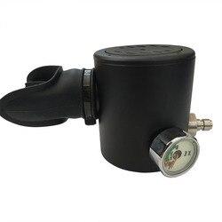 Acecare mini buceo respiración cabeza negra para 0.5L aire comprimido tanque de respiración