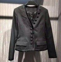 Потрясающий блейзер с пуговицами feminino, большие размеры chaqueta mujer 5XL 6XL casaco feminino, элегантный Блейзер в офисном стиле, уникальное пальто с кисточ