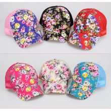 2017  Female Hats Floral Hat Baseball Cap Mesh Cap Spring And Summer Sports And Leisure Sun Visor Sun Hat Snapback Cap
