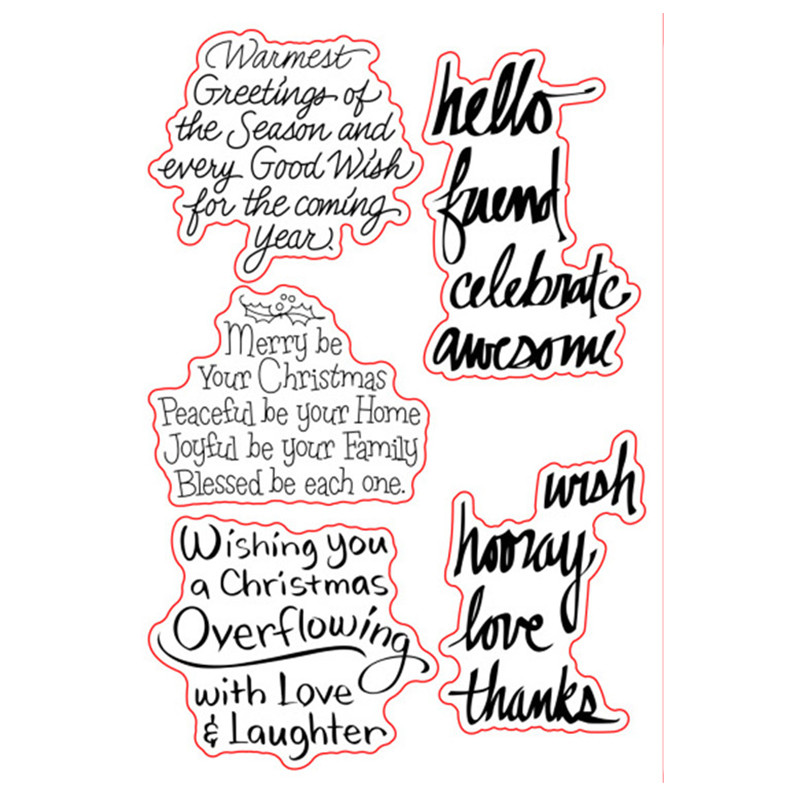 Christmas Sayings.Us 2 79 29 Off Merry Christmas Sayings Sentiments Verse Rubber Clear Stamp Seal Scrapbook Photo Album Decorative Card Making Clear Stamps In Stamps