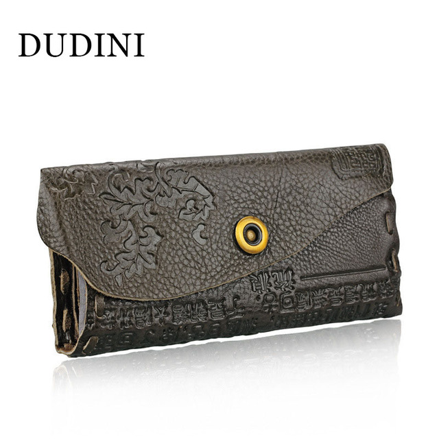 DUDINI 2016 Women Business Style Wallet Female Coin Purses Genuine Leather Embossing Hasp Women Elegant Female Women's Wallets