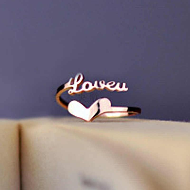 """""""Сердце и любовь"""" кольцо кольца из стерлингового серебра 925 для женщин ювелирные изделия Anel Mujer Aneis женское кольцо ювелирные изделия Anelli Anillo"""