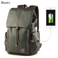 USB Charging Student Backpack Large Capacity Men Backpack Laptop Bags Travel Bags