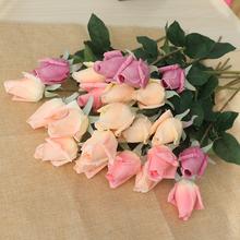 11pcs/Lot Rose Artificial Flowers Latex Real Touch Bouquet Decorations For Wedding Fake Flower Home Christmas