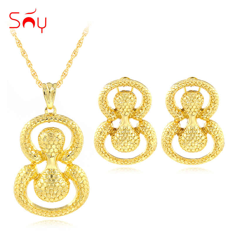 Sunny Jewelry Dubai Jewelry Findings Jewelry Sets For Women Gifts Earrings Pendant Necklace Egg Shape Jewelry Sets For Wedding