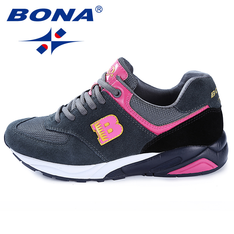 BONA New Classics Style Women Running Shoes Outdoor Jogging Sneakers Lace Up Women Athletic Shoes Comfortable Fast Free Shipping peak sport men outdoor bas basketball shoes medium cut breathable comfortable revolve tech sneakers athletic training boots