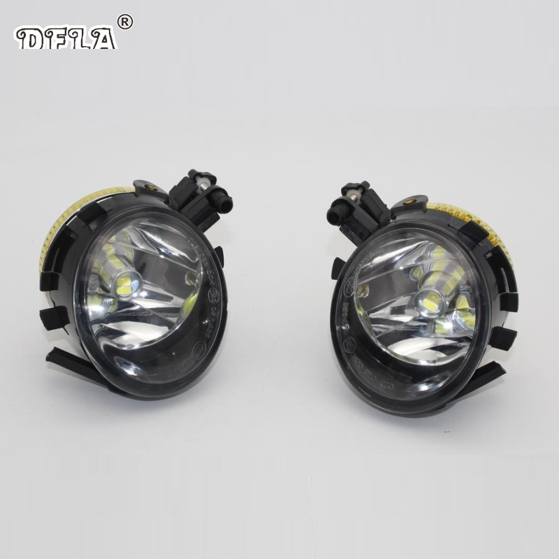 Car LED Light For Seat Altea Leon 2007 2008 2009 2010 2011 2012 2013 Car-styling Front LED Fog Light Fog Lamp fr metal car stickers emblem badge for seat leon fr cupra ibiza altea exeo formula racing car accessories car styling