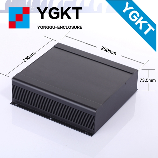 250-73.5-250 mm (W-H-L) black aluminum box extruded aluminum frame/aluminum extrusion enclosure electronics/sealed enclosure diy hifi amplifier enclosure extrusion aluminum enclosure housing shell box 180 88 250 mm w h l