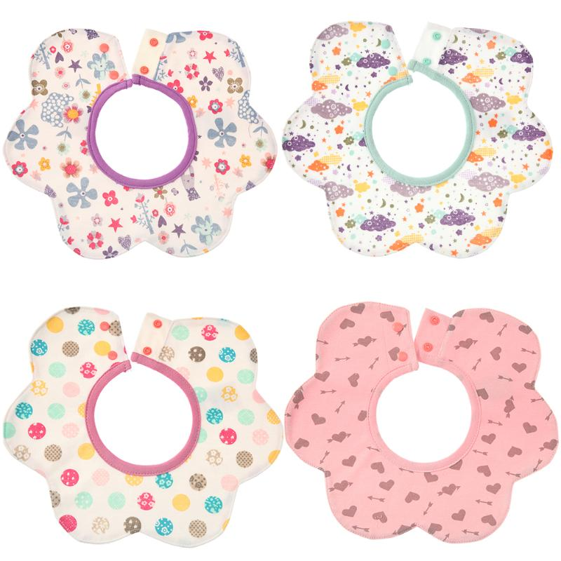 Cartoon Baby Bibs Waterproof 4-Layer Cotton Baby Feeding Cloth Newborn Saliva Towel Infant Bibs Burp Cloth Baby Products