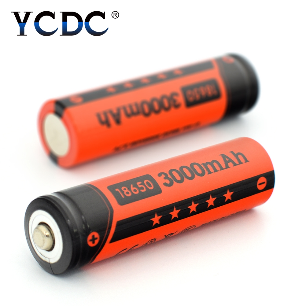 Buy YCDC 2-20Pcs/box Li-ion 18650 Rechargeable Batteries 3.7V 3000mAh Power Bank Lithium Battery for Charger led Flashlight battery for $3.70 in AliExpress store