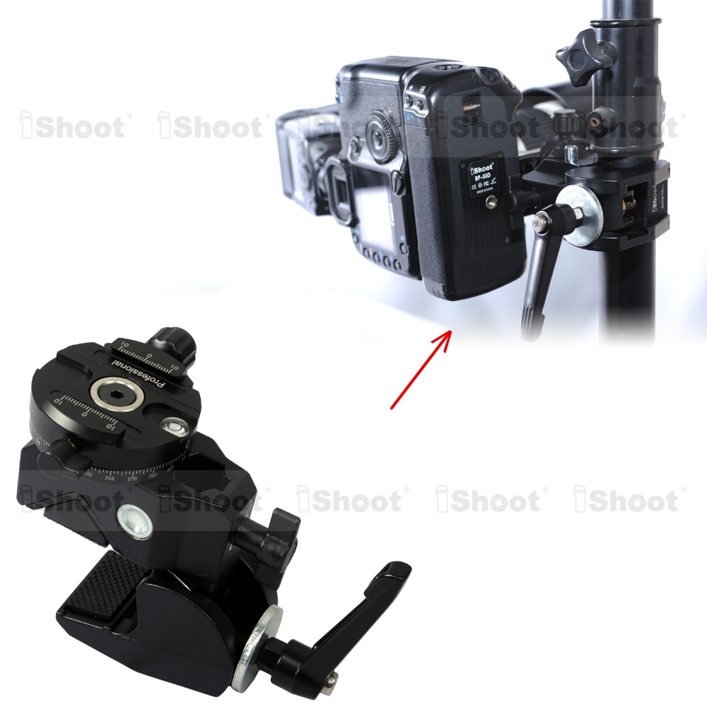 Super Strong Metal Crab Clamp + Ultra-slim 360 Panoramic Panorama Ball Head for Tripod Light Stand Camera Quick Release Plate 11 inch articulate magic arm with super clamp crab plier clip for dslr camera