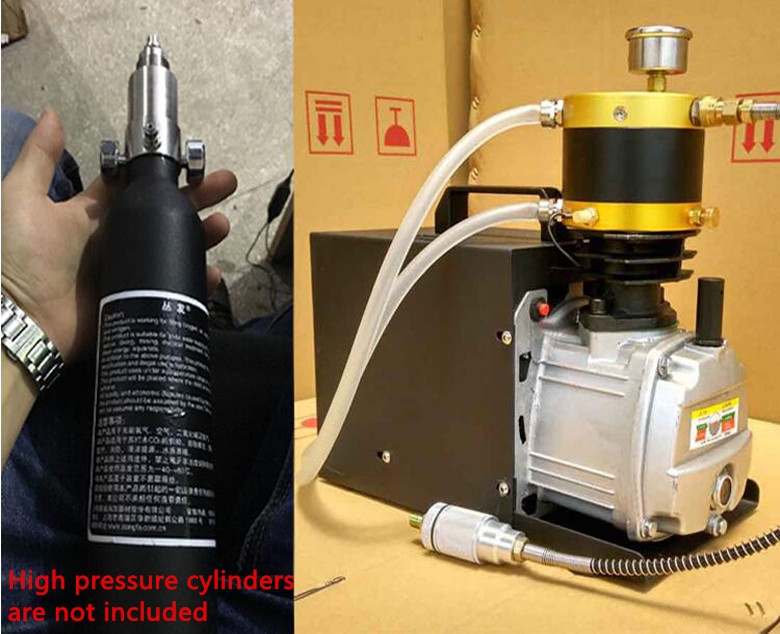 30mpa PCP Electric Air Compressor for High Pressure Airgun Paintball Refilling 220V 13mm male thread pressure relief valve for air compressor