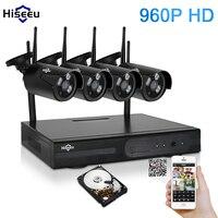 Hiseeu Wireless NVR 960P HD Outdoor Home Security Camera System 4CH CCTV Video Surveillance NVR Kit