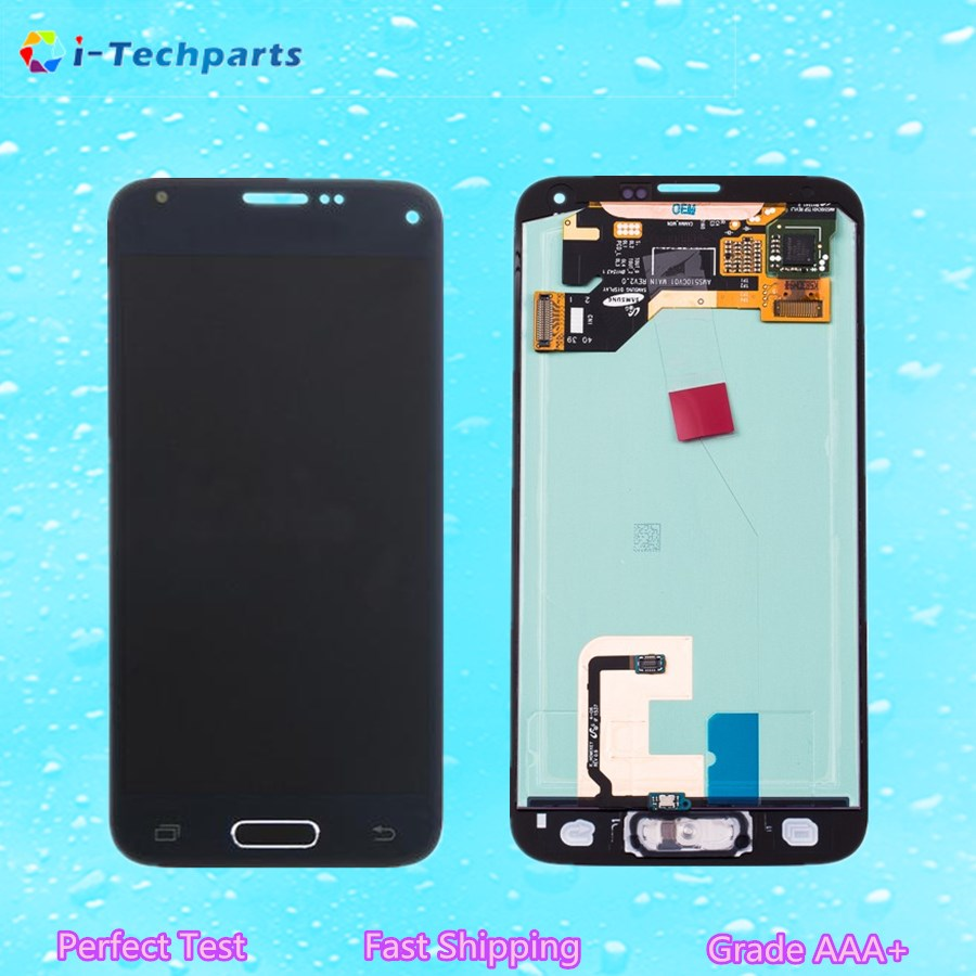 5 PCS For Samsung Galaxy S5 LCD Display and Touch Digitizer Screen Assembly with Adhesive and Logo Replacemen Original Parts