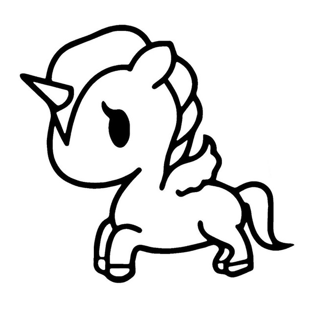 Unicorn Cartoon Coloring Page