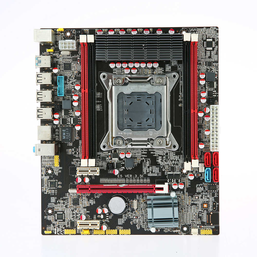 X79 E5 3.5C Motherboard MATX Motherboard SATA3.0 and USB3.0 Ports LGA2011 4 DIMM Slots DDR3  Board Up to 64GB Mainboard