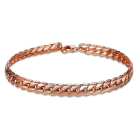 ROMAD Top Quality Bracelet Bangle For Women Captivate Bar Slider Brilliant Rose Gold Color Jewelry Pulseira