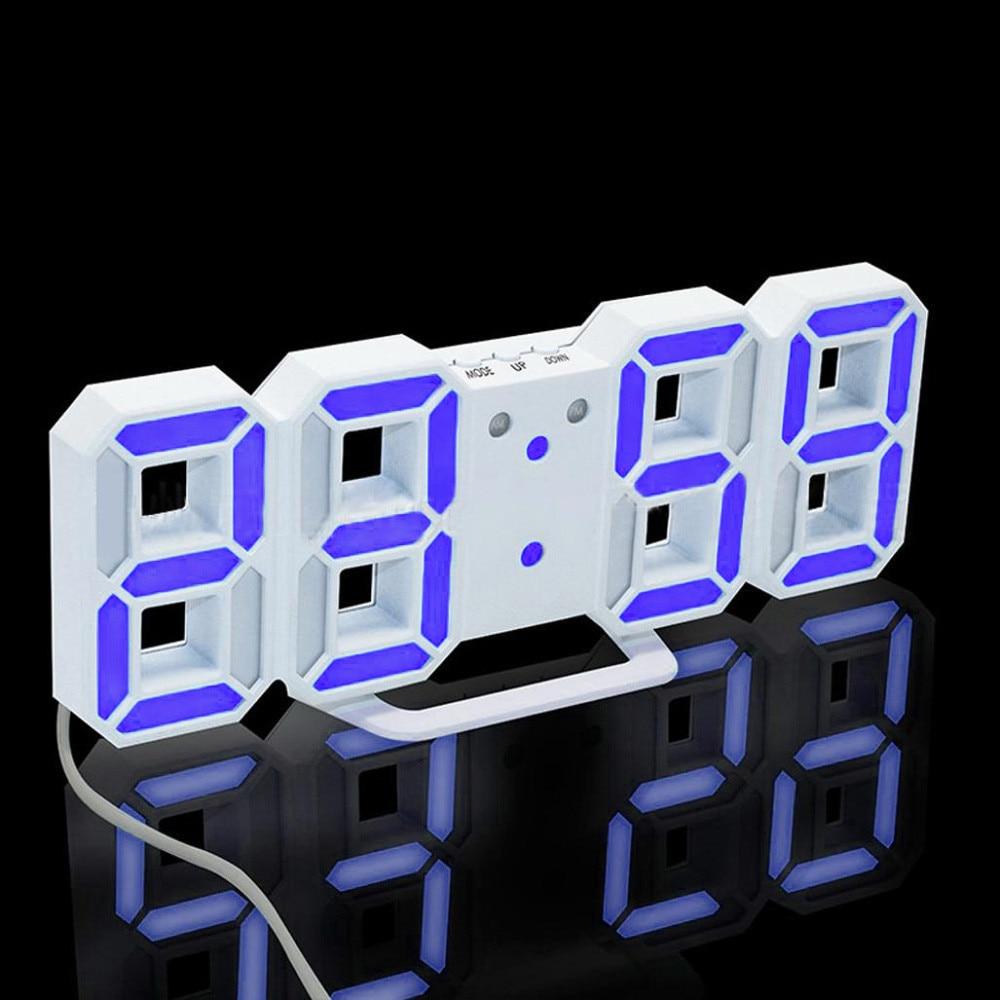 Modern Digital Clock LED Table Desk Night Wall Clock Alarm Watch 24 or 12 Hour Display Home Desktop Fashion LED Light Clocks