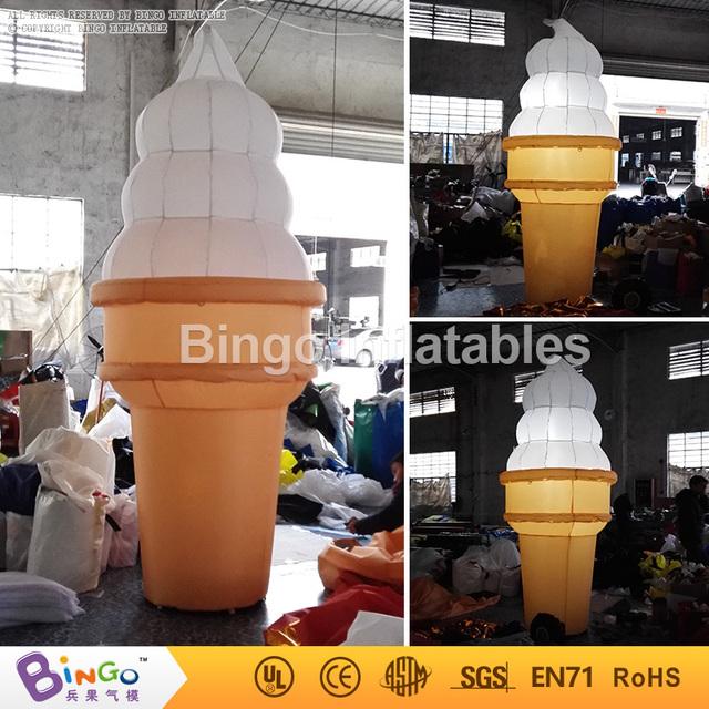 Gran helado inflable con iluminación led 3 m alta o personalizar el tamaño intermitente juguete