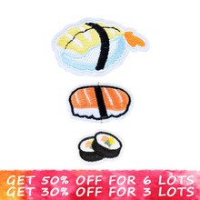 Mixed sushi patches for clothing stripes on clothes iron on patches embroidery patch applique parches ropa stickers for clothes