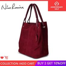 9bc74a2e40f1 Nico Louise женская сумка-тоут из натуральной замши, новая сумка для  отдыха, большие