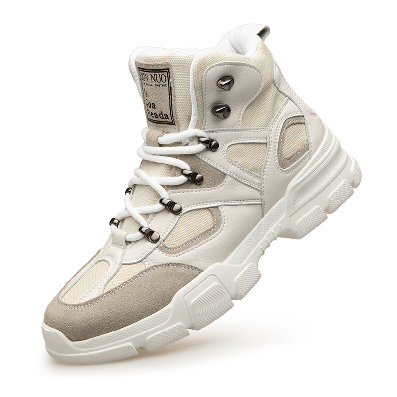 Grande taille 38-44 hommes chaussures de loisir blanches en plein air respirant chaussures de Sport pour hommes chaussures de marche chaussures confortables DA0126