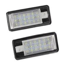 2x18 светодиодный номерной знак света лампы для Audi A3 S3 A4 S4 B6 A6 S6 A8 S8 Q7