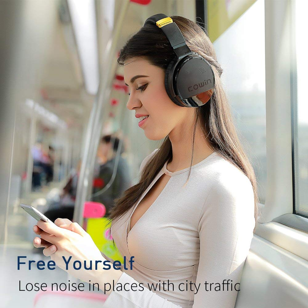 Image 2 - COWIN E 8 Active Noise Cancelling Headphones Wireless Bluetooth Headset with Mic/Hi Fi Deep Bass Wireless HeadphonesPhone Earphones & Headphones   -