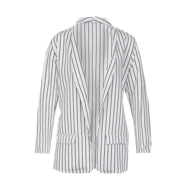 Z Autumn Long Sleeve Slim Fit Fashion Casual Blazers 2018 Office Lady striped Blazer Open Front Ladies Coat Women Formal Jackets 5