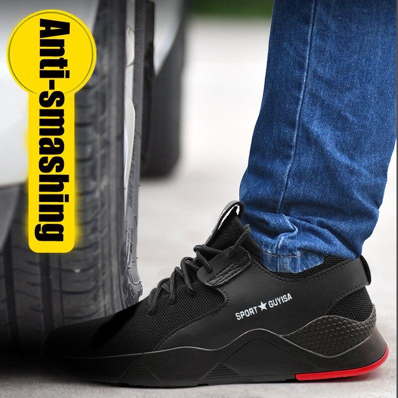 Respirável Kanye Leves Verão Os Dos De Homens Indestrutíveis Preto Homem Das Sapatos West Sapatilhas Mulheres Para Casual Calçados Trabalho Segurança xq7wgPA