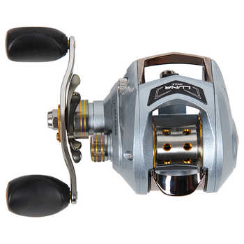 Haibo LUNA100/150 left/right handed baitcasting fishing reel 6.5:1 6B+1RB 178g magnetic brake free shipping
