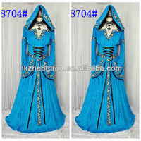 FREE SHIPPING lqz8740 Medieval Princess Ladies Fancy Dress Historical Period Character Womens Costume SIZE M