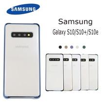 100% Original Samsung S10 Trường Hợp Bìa Trong Suốt Trường Hợp Galaxy s10 S10 Cộng Với S10 + S10E Rõ Ràng Mạ Cứng MÁY TÍNH Bảo Vệ bìa Capa