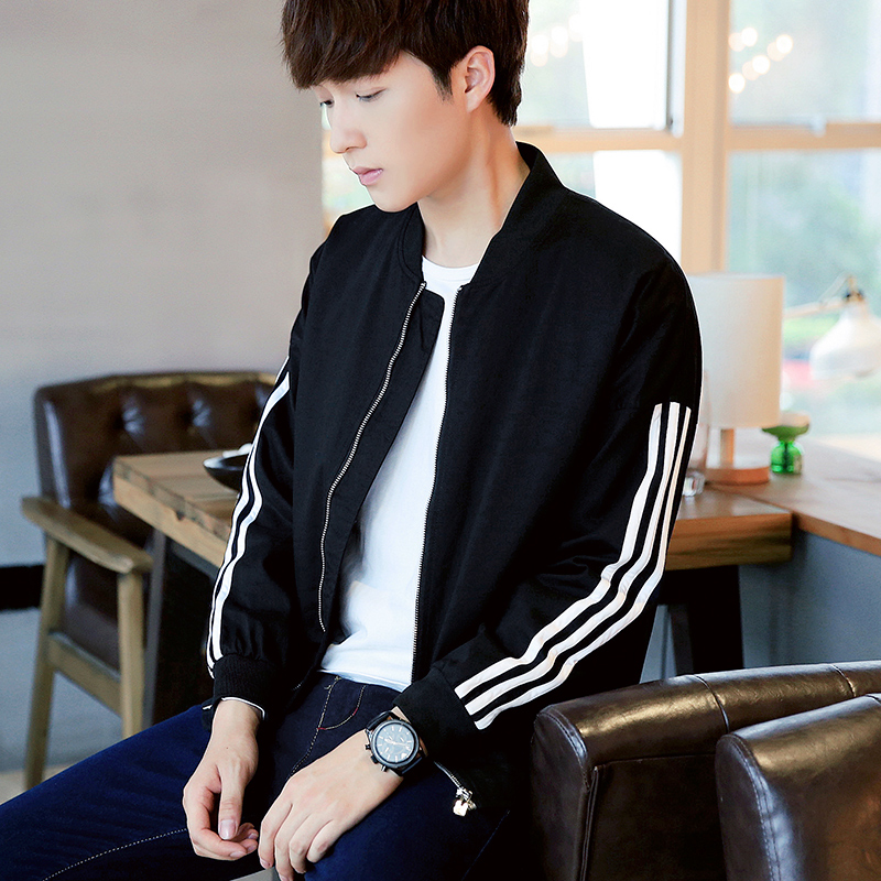 Для мужчин пальто 2016 г., осень новый бейсбол одежда осень кожа Для мужчин  S куртка тенденция тонкий корейской молодежи c383ec05963