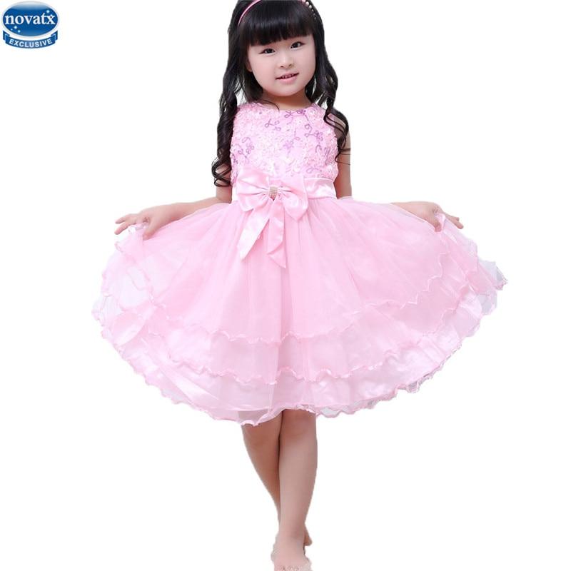 №Novatx TM1002 boda vestidos de niña Kids wear ropa niños moda niñas ...