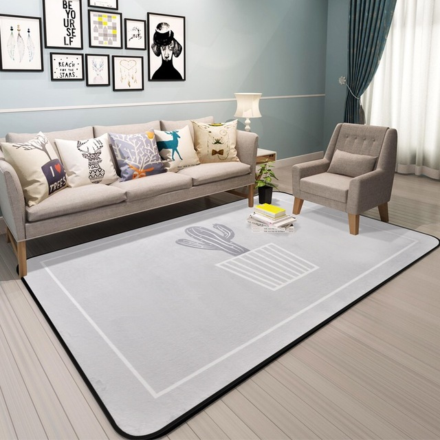 Superb New Cactus Carpet For Bed Room Modern Plant Rugs Living Room Carpets Bape  Mats 100*