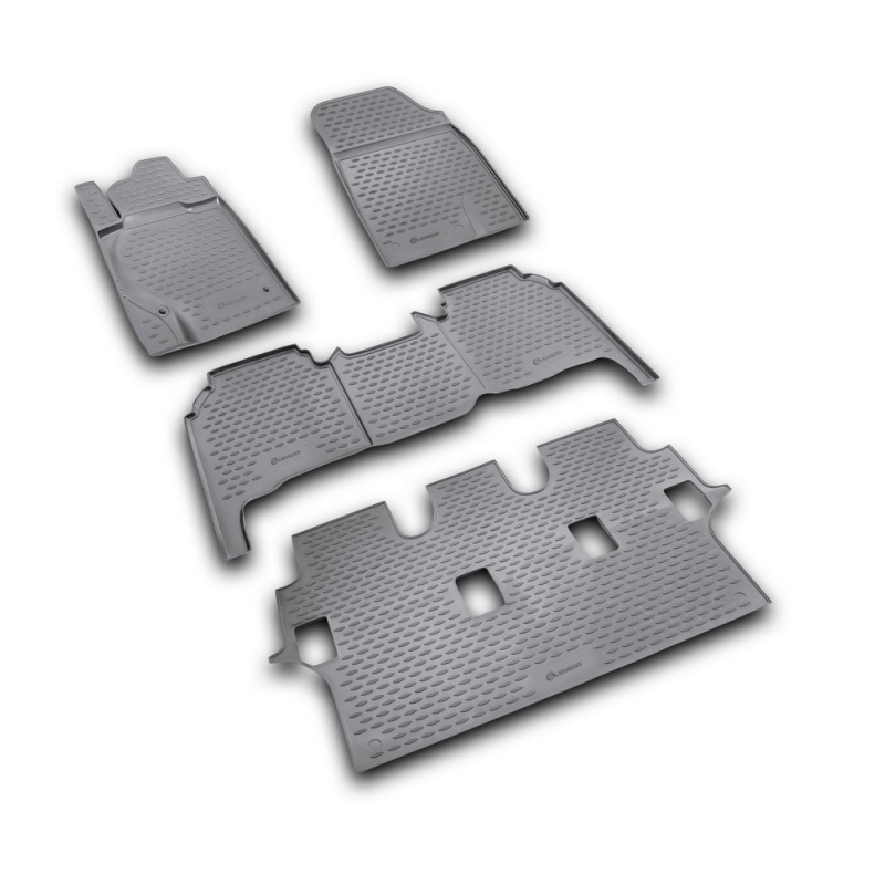 цена на Carpet mats interior For TOYOTA Land Cruiser 200 11/2007-2012 4 PCs (polyurethane)